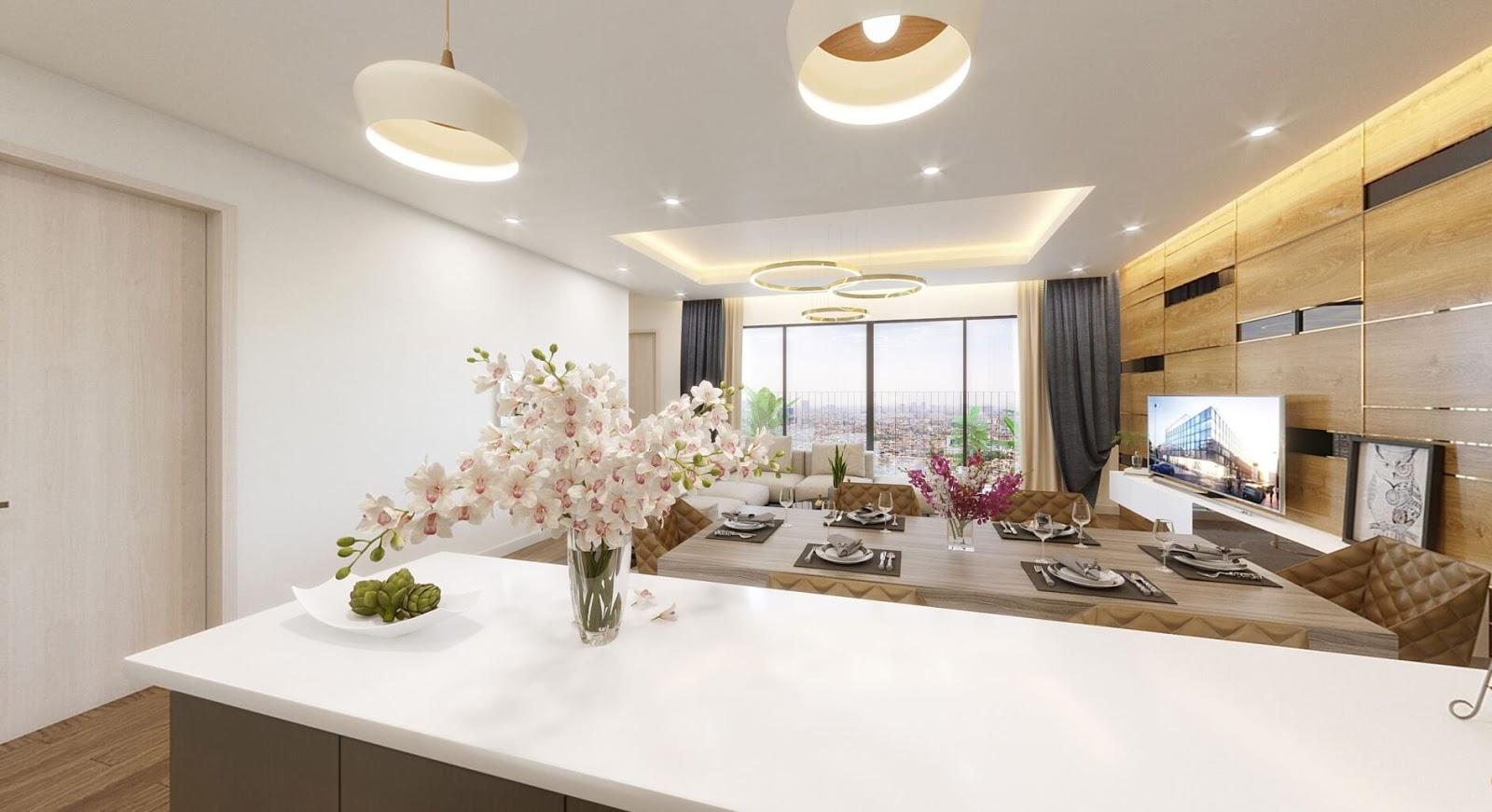 Cho thuê căn hộ 3 phòng ngủ chung cư Amber Riverside