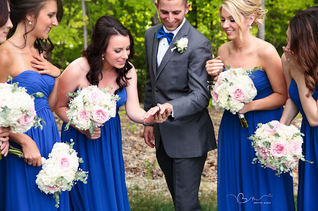 groom with bridesmaids v