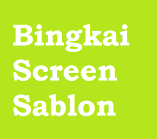Bingkai Screen Sablon