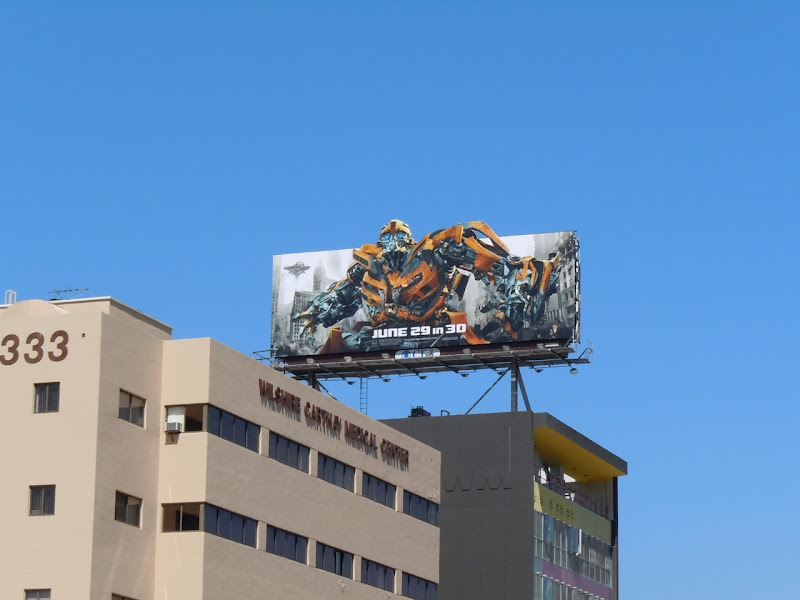 Transformers 3 Bumblebee billboard