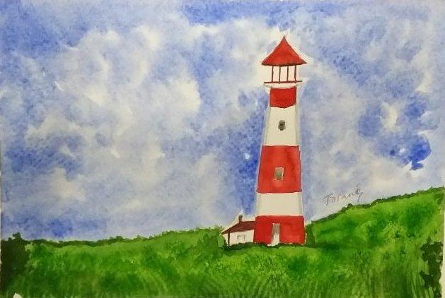 Tarang   : Watercolour Painting --- Lighthouse & Landscapes