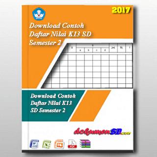 Download Contoh Daftar Nilai K13 SD Semester 2