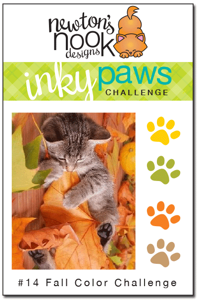 Inky Paws Challenge #14 - Fall Color - Newton's Nook Designs