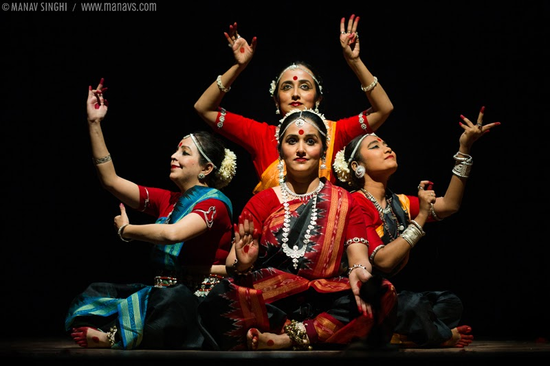 """Kaal Ratri Dhyan"" Odissi Dance by Jaya Mehata, Swati Chattopadhyay, Aastha Gandhi and Raudri Singh."