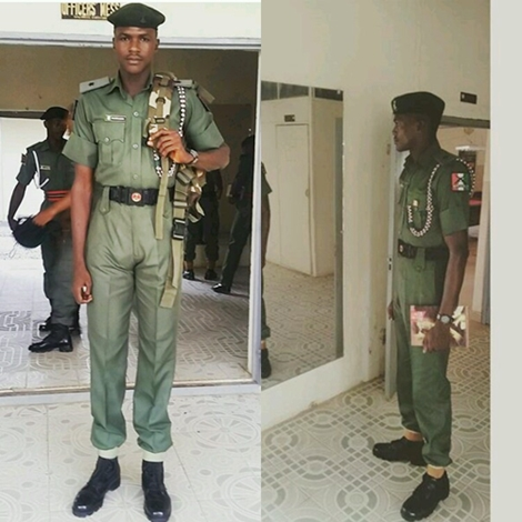 Is this the Tallest Nigerian Soldier? See What President Buhari Did When He Met Him (Photos)