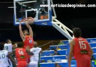 Victoria de España en su 2º partido del Eurobasket 2011