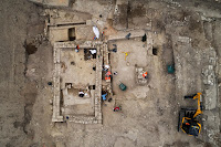Overhead view of building from late antiquity, 6th c. AD [Credit: Denis Gliksman, INRAP]