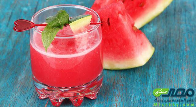 كوكتيل البطيخ والليمون الأخضر وخطوات التحضير