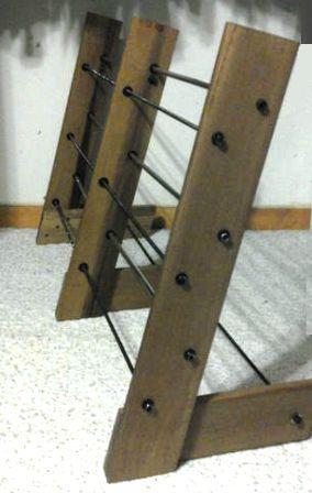 cara membuat rak sandal dari kayu
