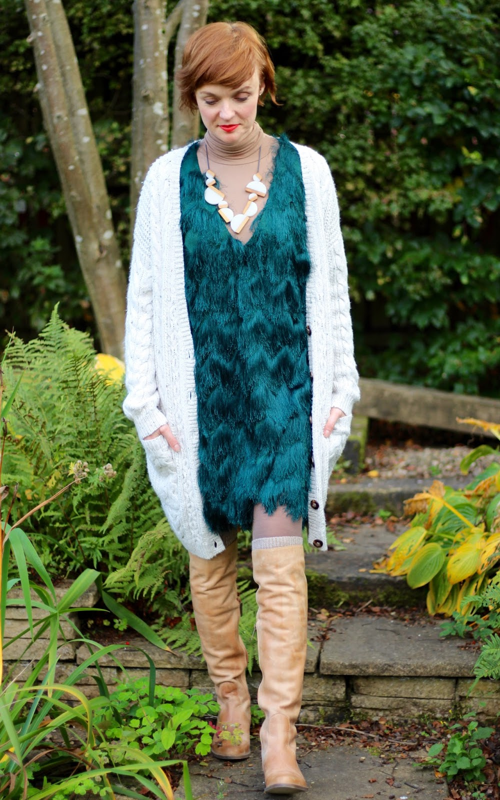 Fake Fabulous | PPP 8 | A Hairy Green Dress, 6 ways, style over 40.
