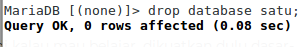 menghapus database penghapusan basis data lewat terminal linux belajar mysql menghapus basis data operasi dasar database