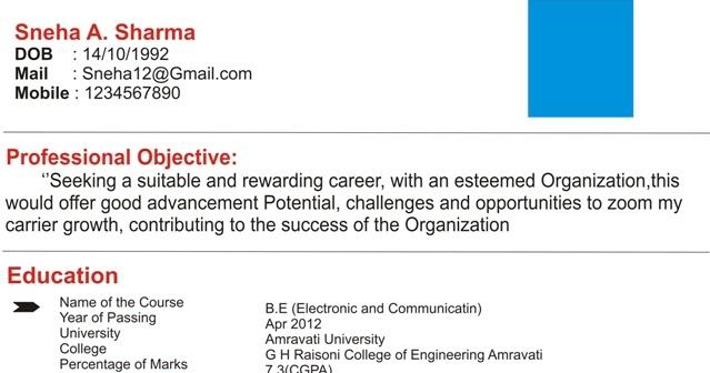 एक अच छ Resume क स बन त ह