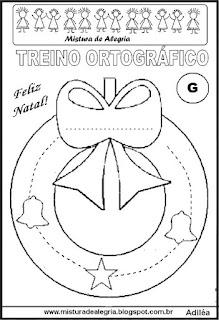 Treino ortográfico símbolos do natal guirlanda