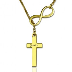 personalized infinity necklace with cross