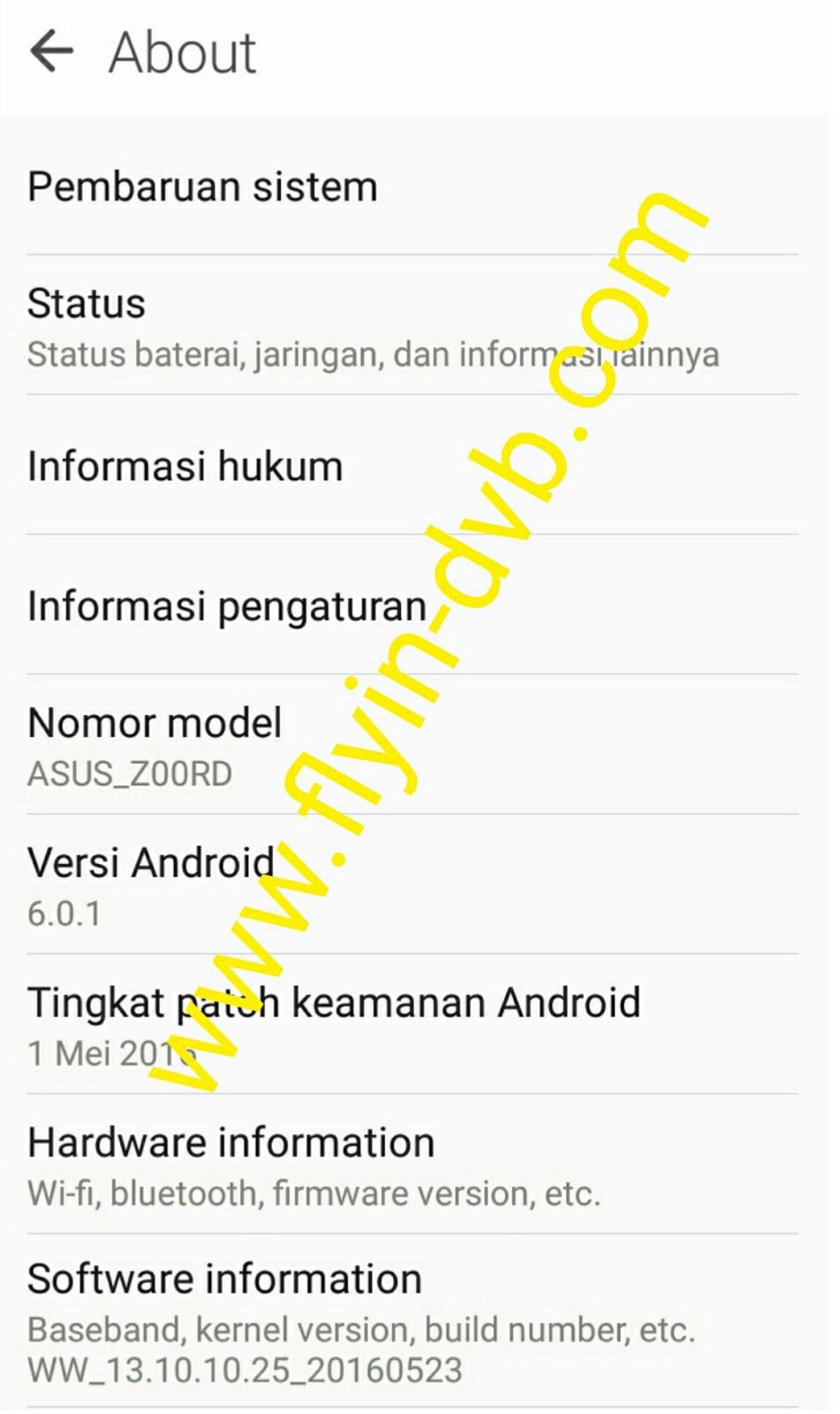 Cara Upgrade Asus Z00RD Zenfone 2 Laser ZE500KG Ke Android