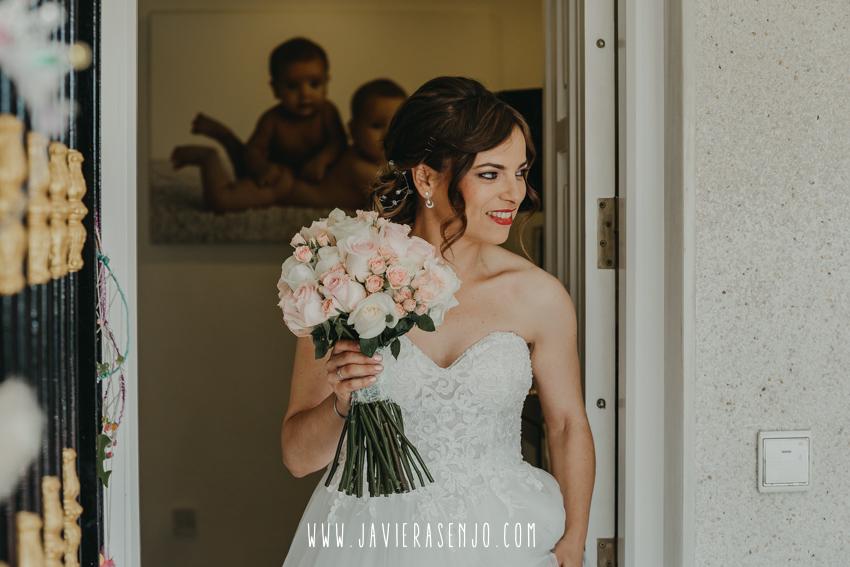 vestido de novia Rosana Cantó Alicante y  ramo de novia de Los Rosales