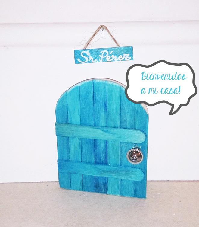Diy puerta del ratoncito p rez blog universo azul - Puerta ratoncito perez el corte ingles ...
