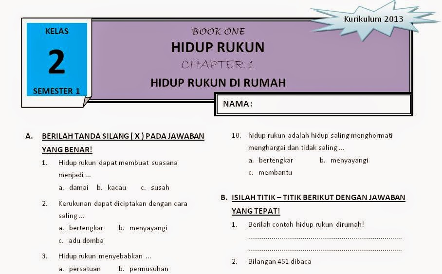 Agustus 2014 Rief Awa Blog Download Kumpulan Soal Ujian Sd Terbaru