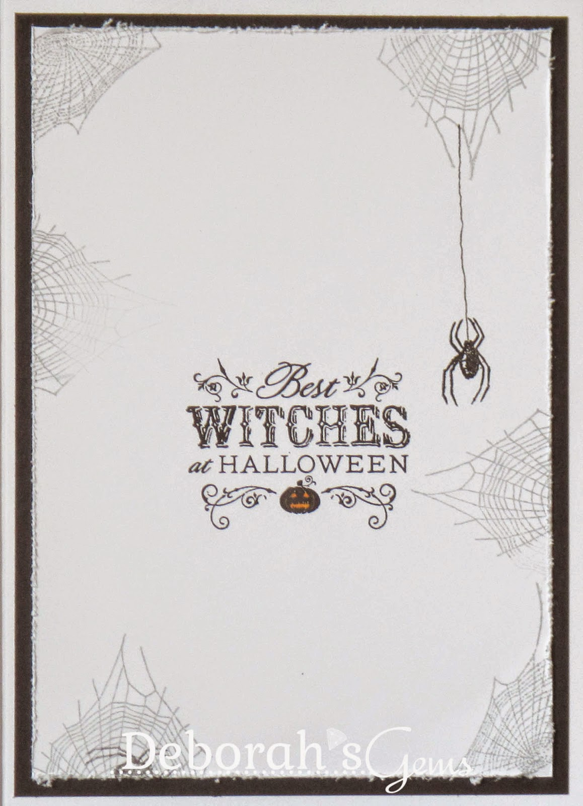 Halloween Greetings inside - photo by Deborah Frings - Deborah's Gems