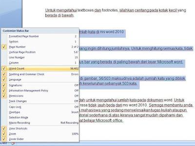 Cara Menghitung Jumlah Kata di Ms Word 2003-2013 - Tutorial Gadget