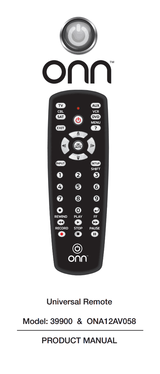 Onn remote control manual