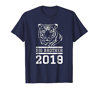Big brother 2019 shirt, Perfect gift idea for son, brother, grandson becoming the big brother, Gift for big brothers TIGER boys tee.
