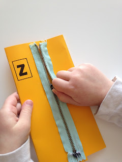 Z day activity or craft for preschoolers with a sipper and a sleeping bag