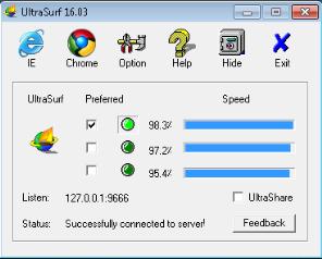 تحميل برنامج  UltraSurf 16.03 لتصفح  الانترنت بهوية مجهولة  مجانا