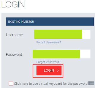 Reliance Mutual Fund Login Page