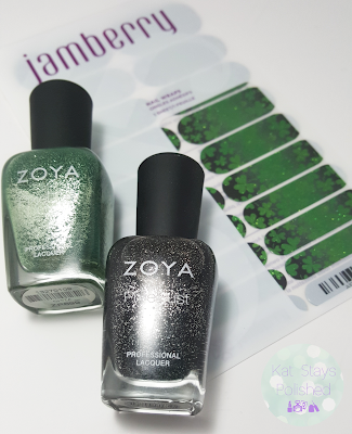 Jamberry Shamrockin' | Kat Stays Polished