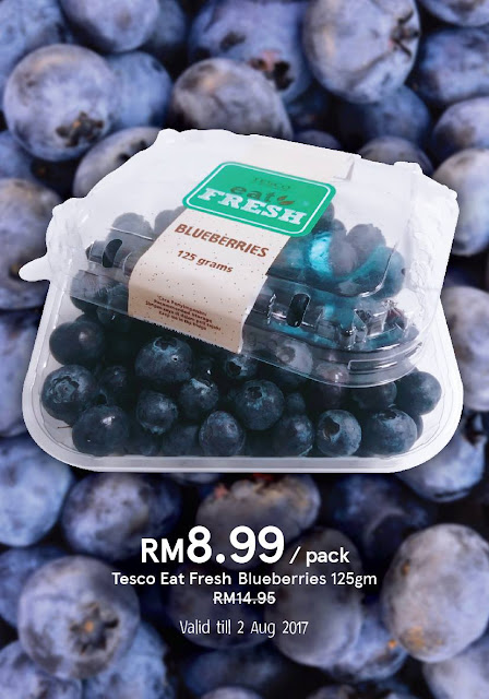 Tesco Malaysia Blueberries Discount Offer Promo