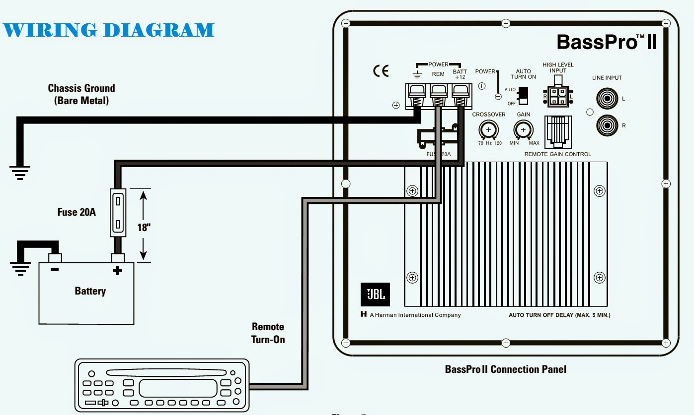 JBL GT BASSPRO II SubWoofer  WIRING DIAGRAM  CIRCUIT