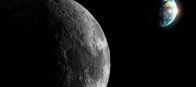 a lua e a terra fotos real