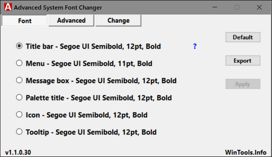 how to change windows 10 system font