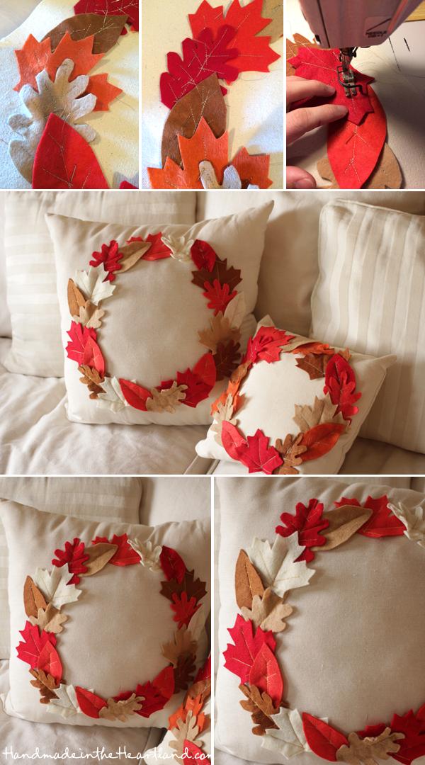 DIY Thanksgiving Leaf Pillows