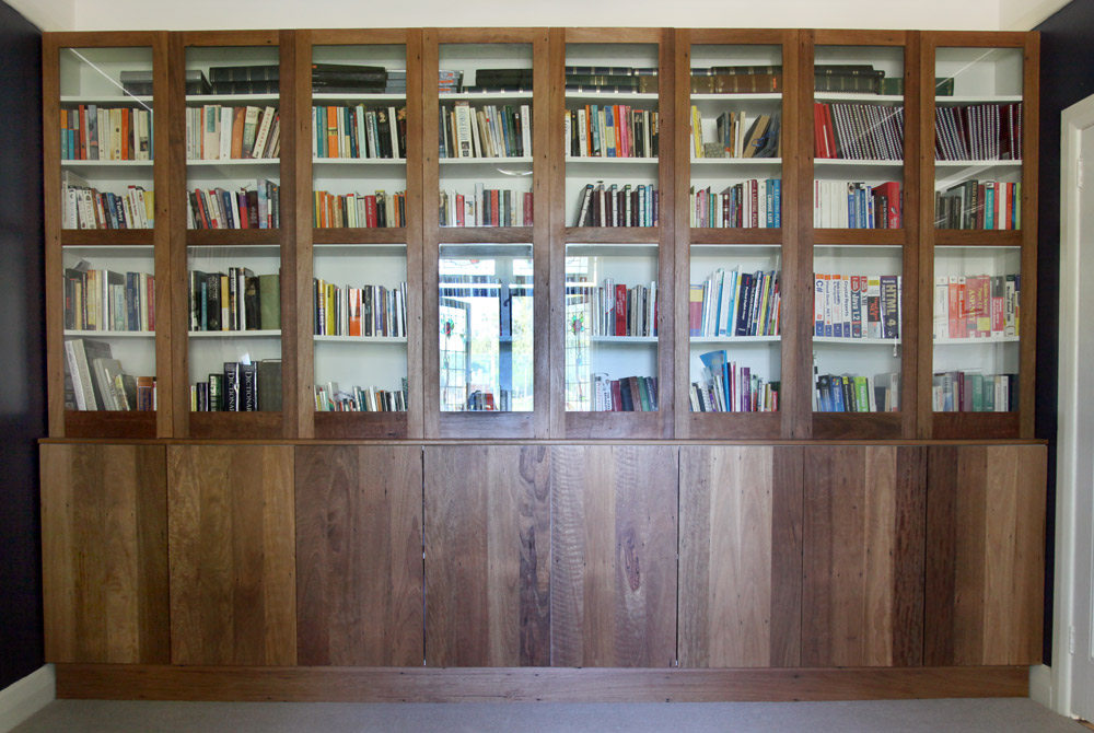 When Looking To Install Some Custom Shelving In Their Home Office They Requested Solid Timber Bookshelves Made From The Salvaged Original Floorboards