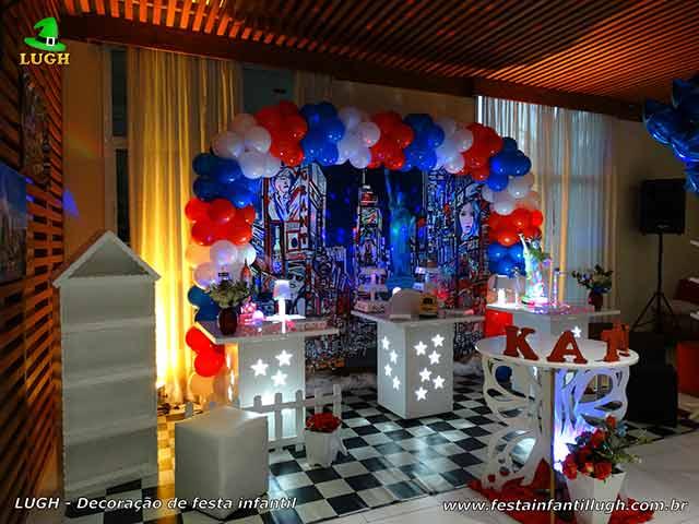 Decoração temática Nova York para festa para aniversário infantil, teen e adulta - Barra da Tijuca - Rio de Janeiro (RJ)