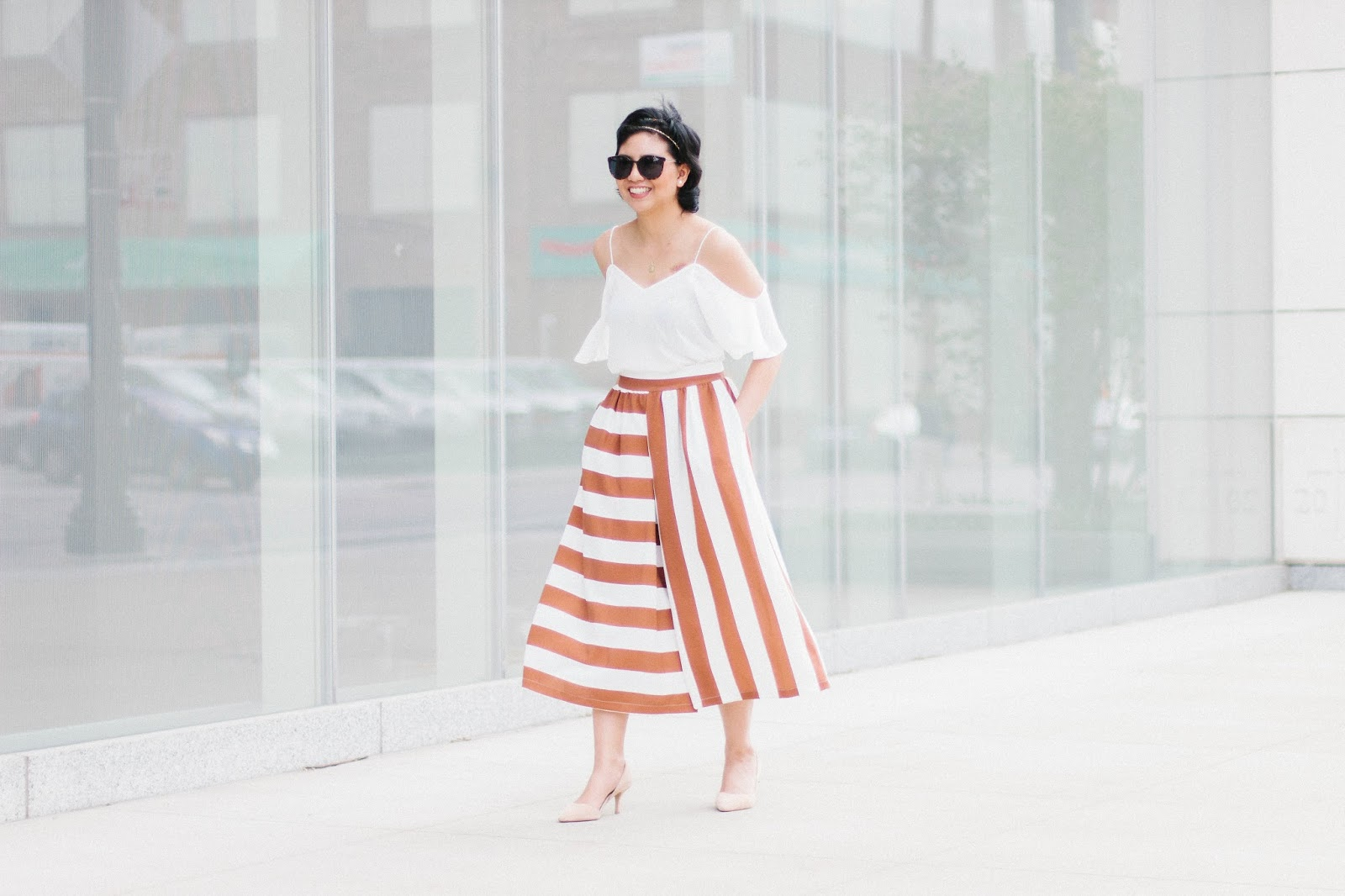 How to wear striped culottes and style them to make it workwear appropriate with different striped culottes options