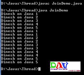 Java Thread Join using join() method