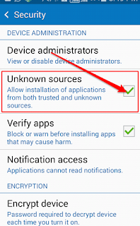 There you will have to enable unknown source option