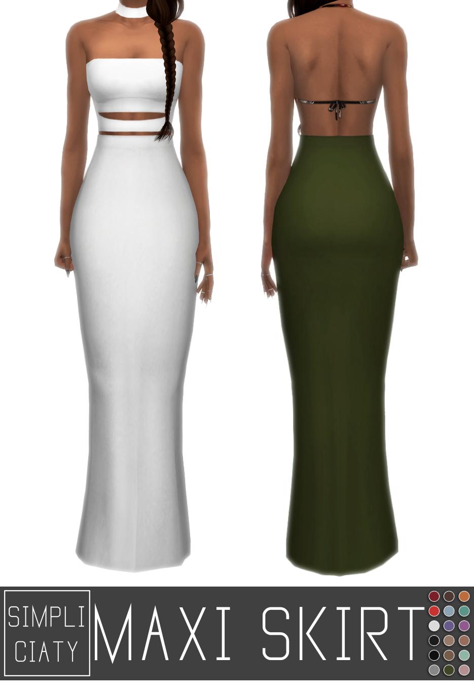 Maxi Skirt Simpliciaty