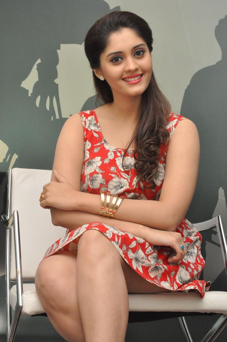 Surabhi Latest Thigh Show Photos In Red Dress
