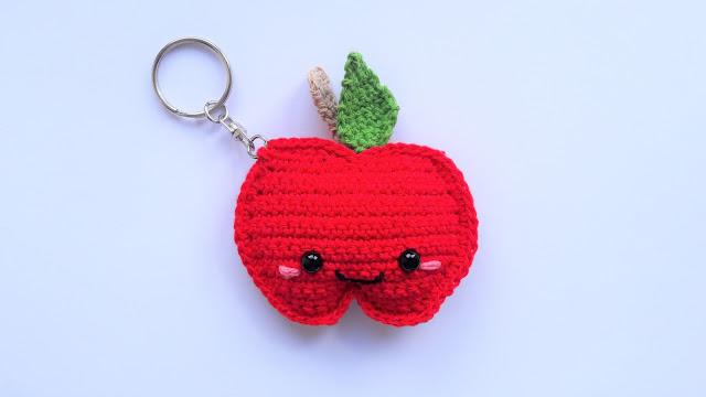 pomme , crochet , porte-clef , porte-cles