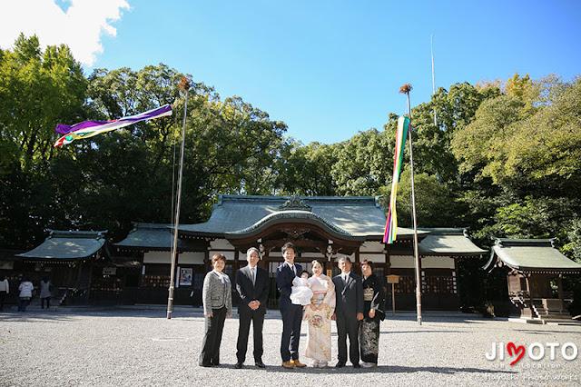 熱田神宮でのお宮参り出張撮影