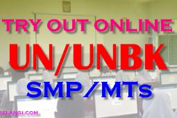 Try Out Online 2 Matematika - UN UNBK SMP/MTs Tahun 2019
