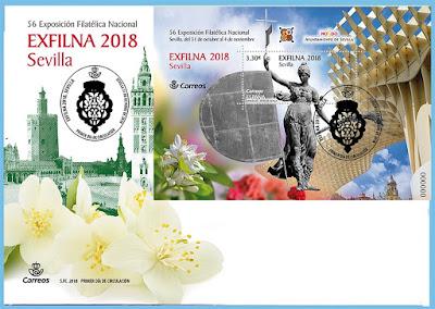 Exfilna 2018 - Sevilla  - Sobre conmemorativo