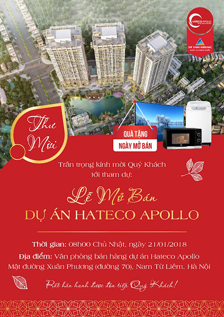 Thư mời mở bán chung cư Hateco Apollo Xuân Phương
