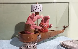 "Models from ""The Clangers""."