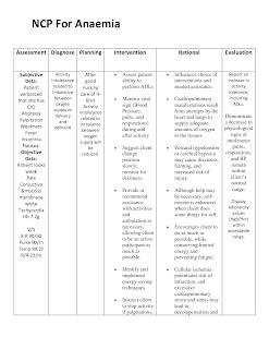 Anemia nursing care plan - Nursing Care Plan Examples
